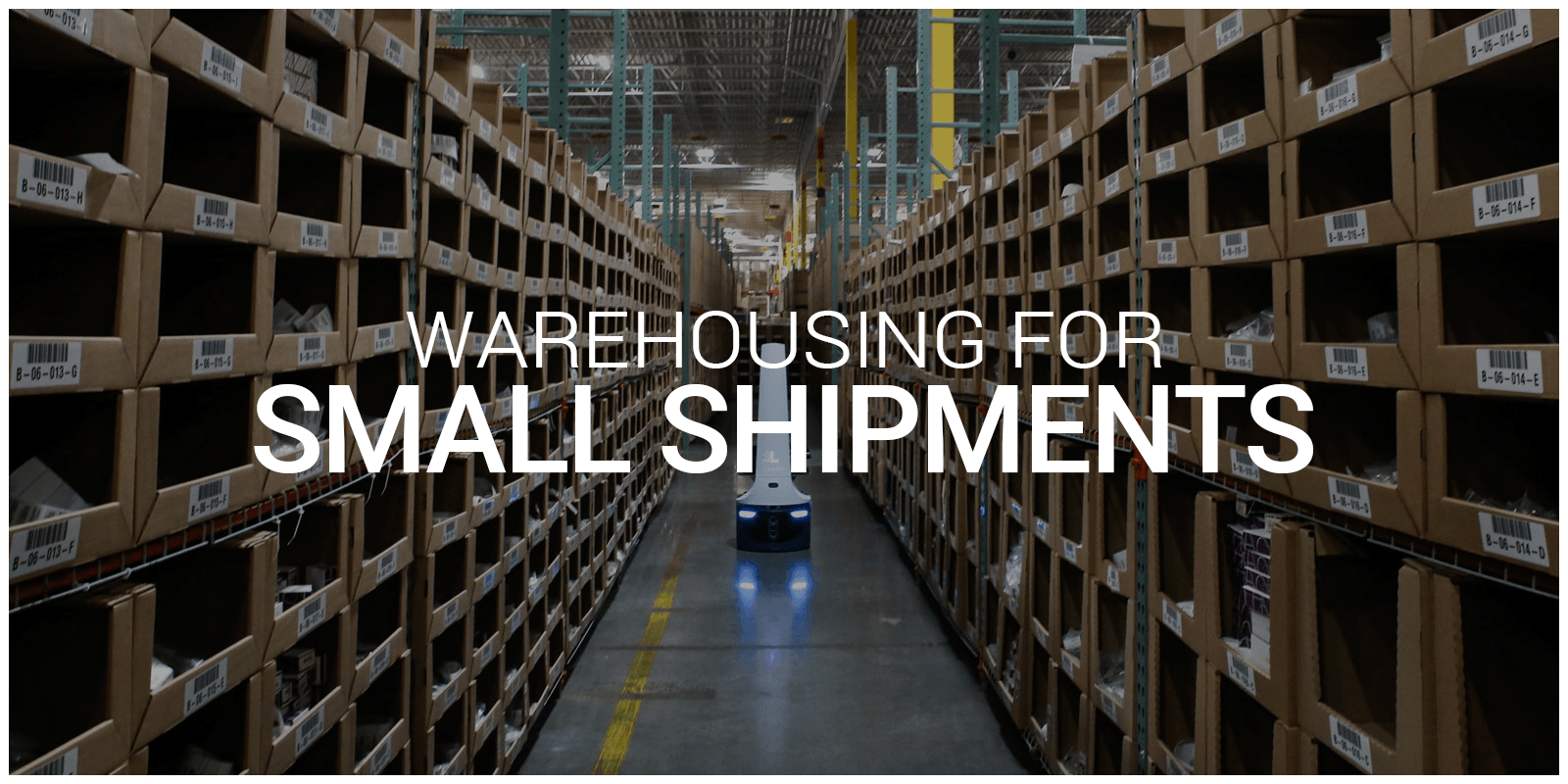 Warehouse with shelf space